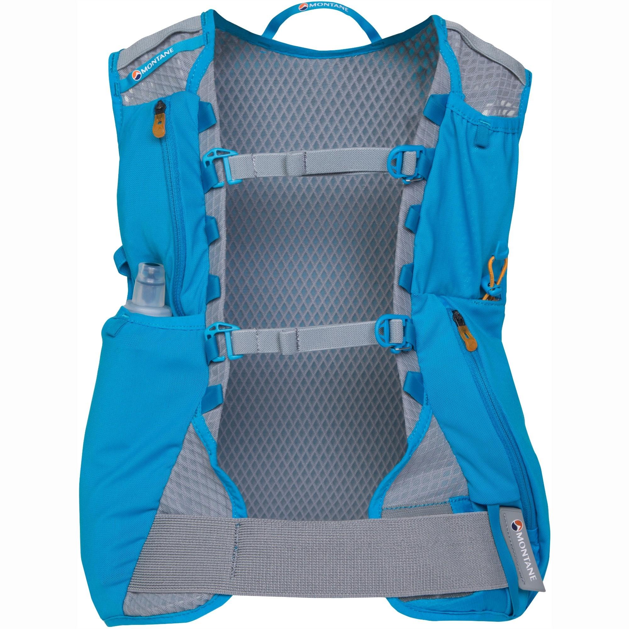Montane Via Claw4 Women's Trail Running Pack - Cerulean Blue/Cloudburst Grey/Tabluar Orange