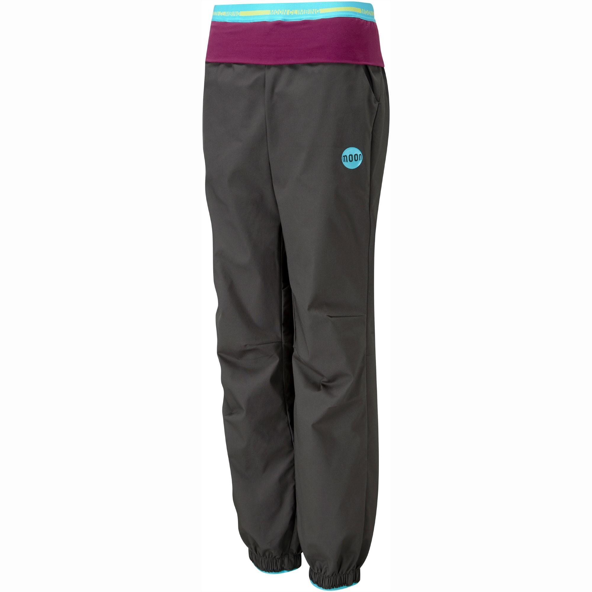 Moon Women's Samurai Pants - Charcoal - Front