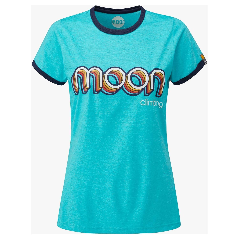 Moon Retro Ringer Tee - Women's - Bluebird/Indigo