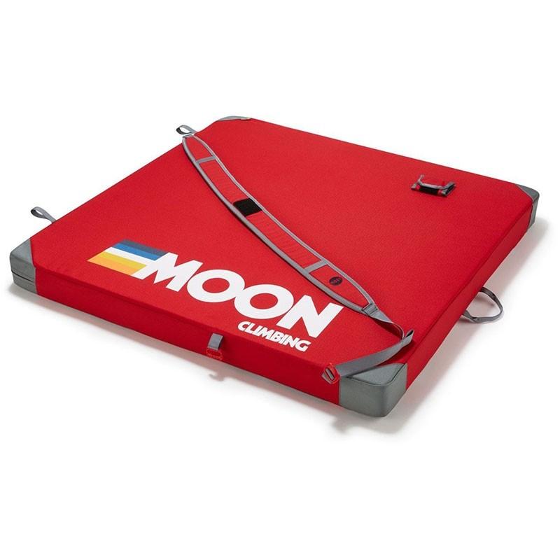MOON - Pluto Bouldering Pad - Retro Stripe Red