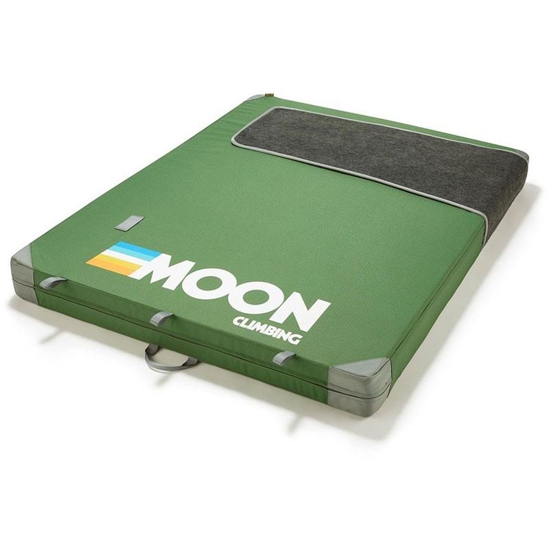 Moon Warrior Crash Pad - Retro Stripe Green