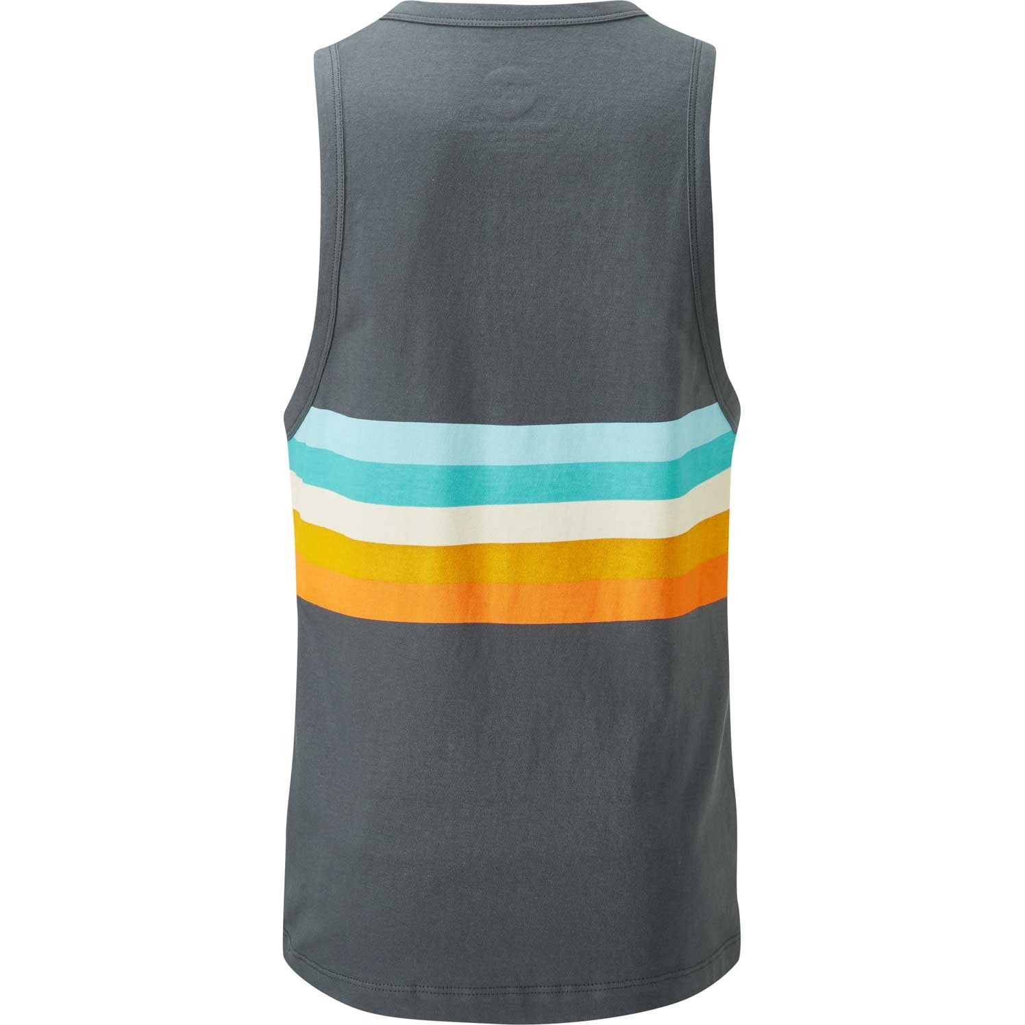 Moon Retro Stripe Vest - Ebony