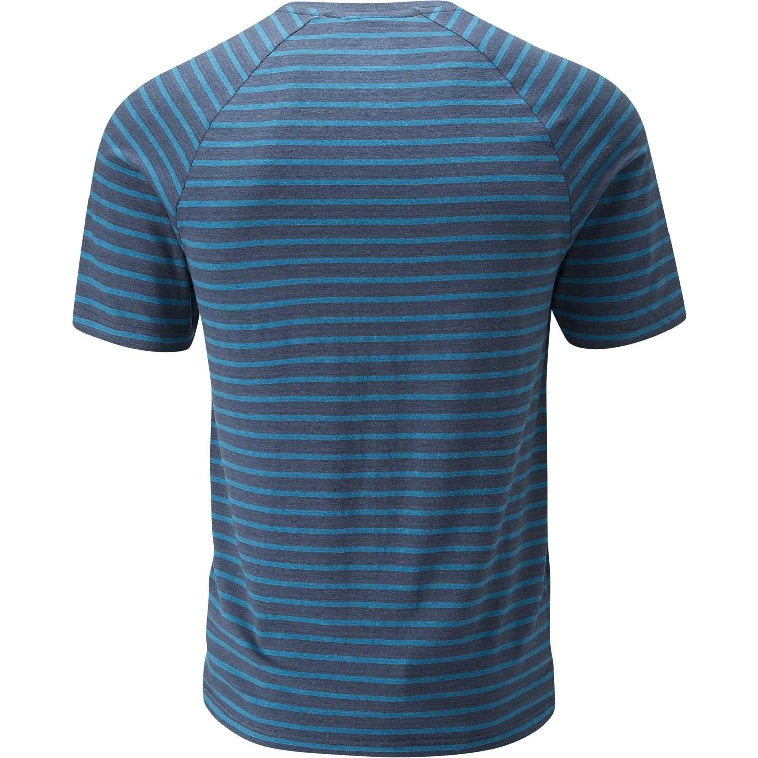 Moon Striped Bamboo Tech T-Shirt - Men's - Indigo/Midnight