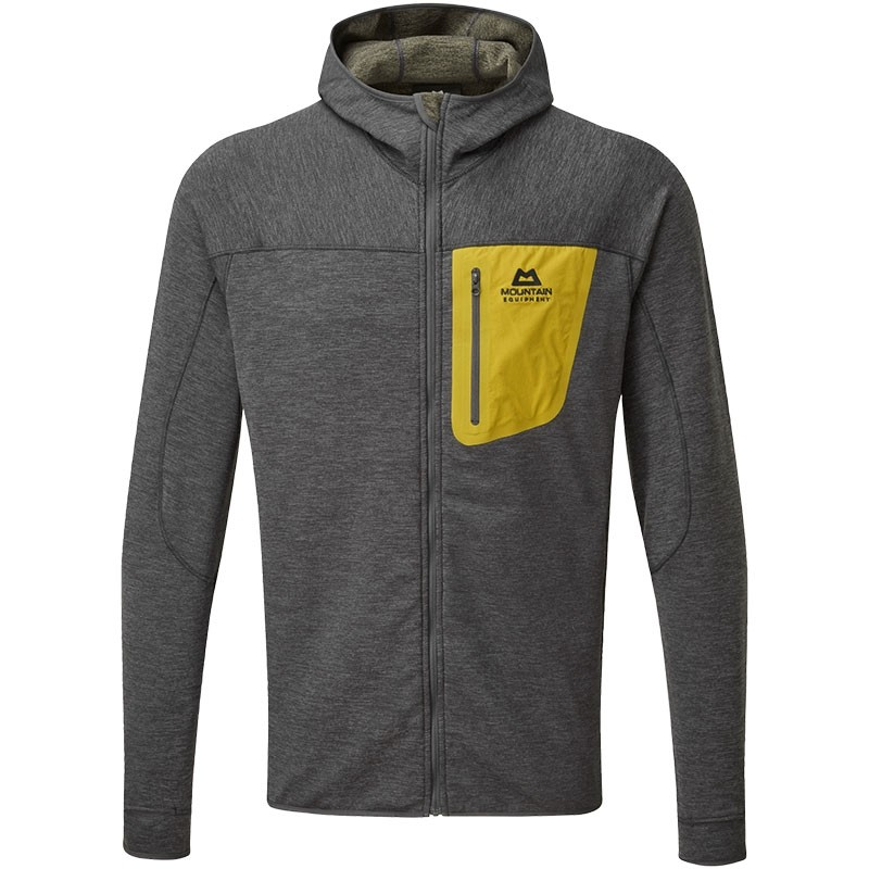 Mountain Equipment Pivot Hooded Fleece Jacket - Anvil Grey