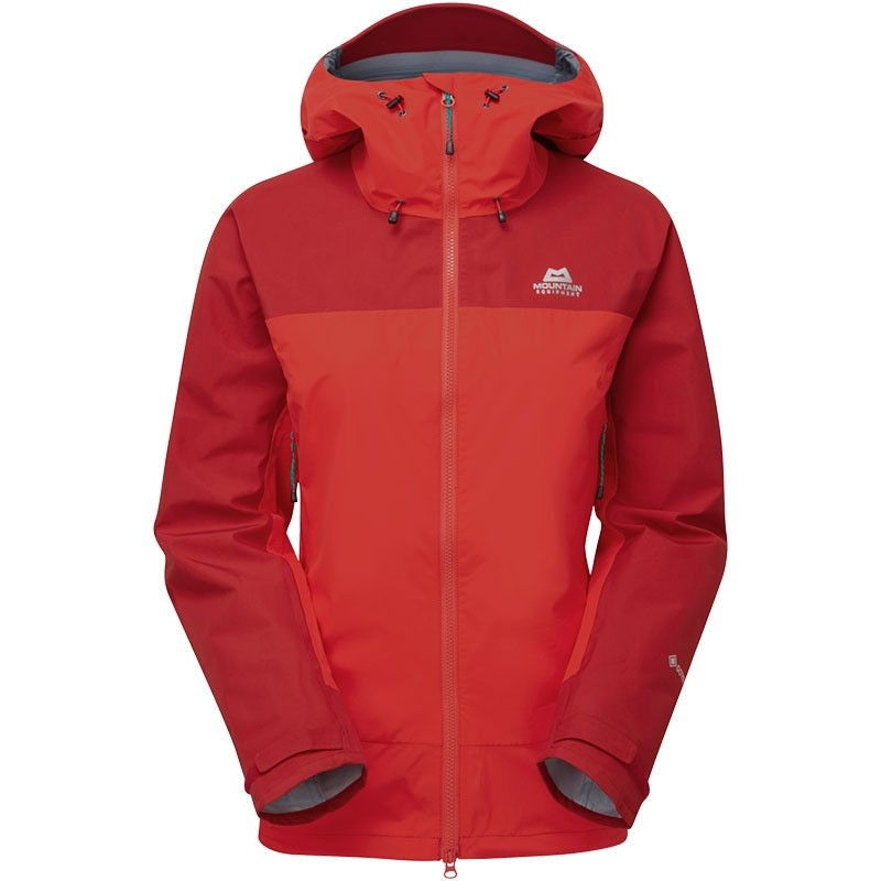 Mountain Equipment Saltoro Women's Waterproof Jacket - Imperial Red/Crimson