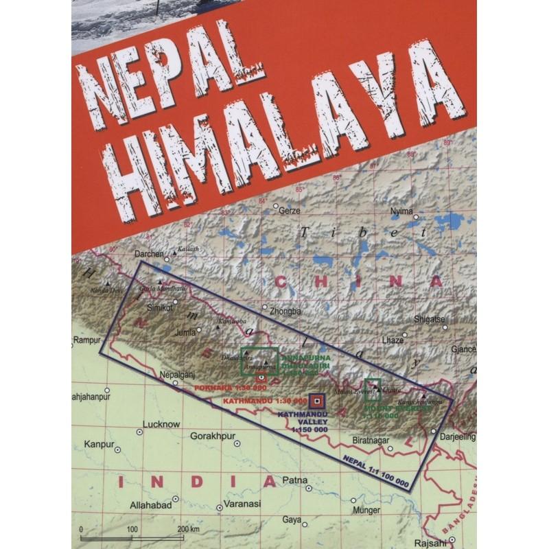 Nepal Himalaya Trekking Map by terraQuest