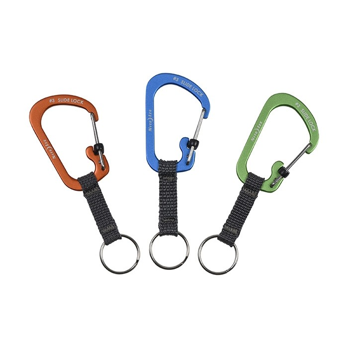 SlideLock Key Ring Aluminium