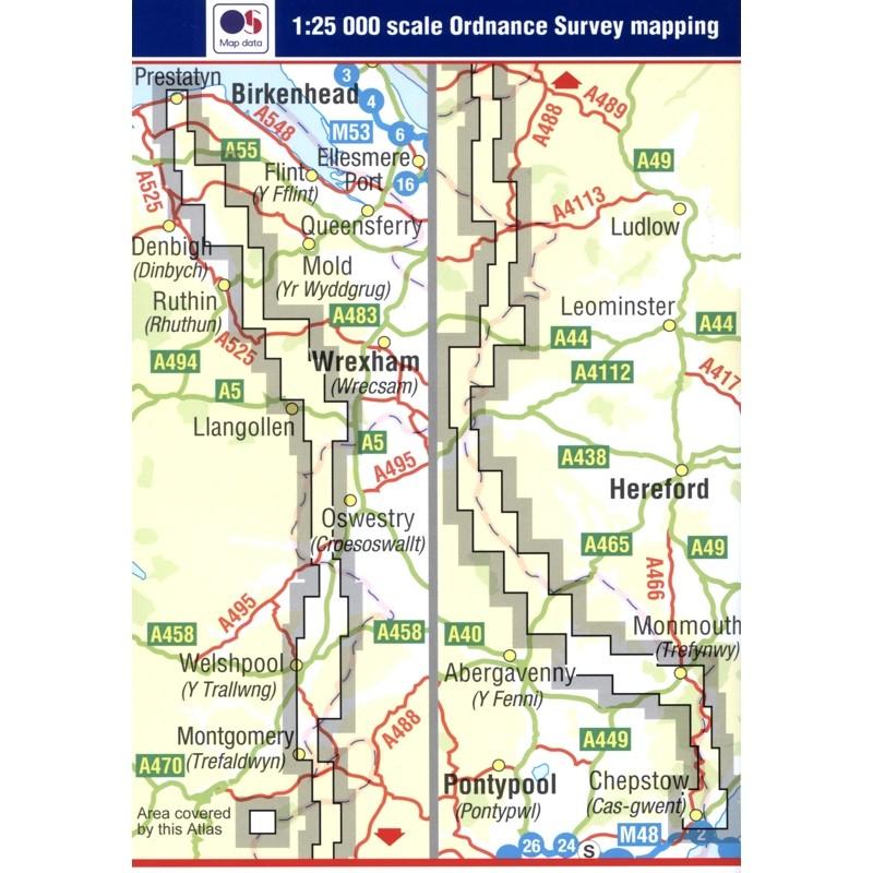 Offa's Dyke Path A-Z Adventure Atlas