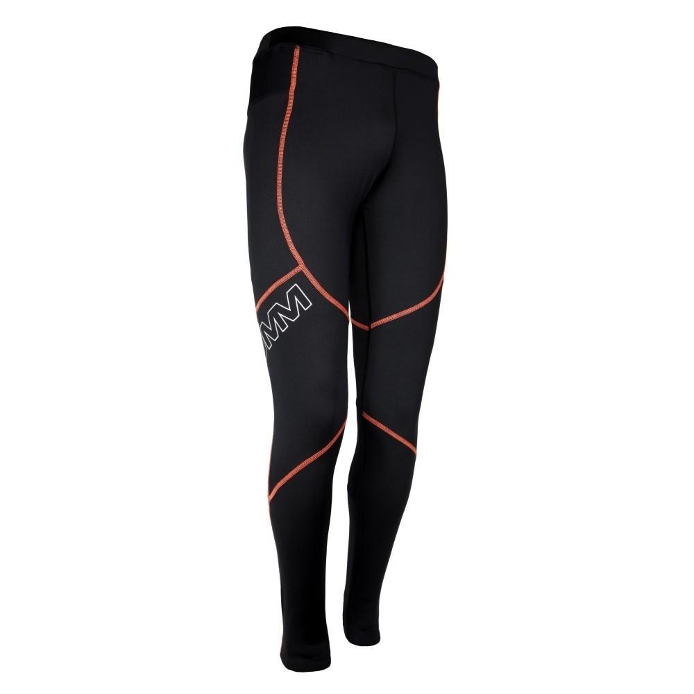 OMM Flash Tights 1.0 Men's Running Tights - Black/Orange