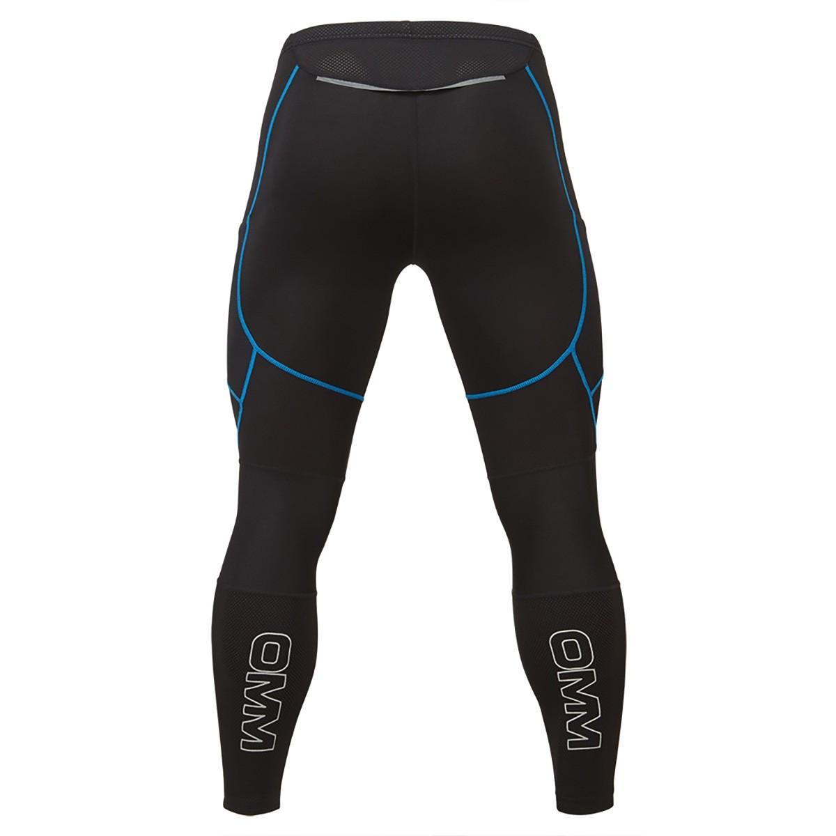 OMM Flash Winter Men's Running Tights - Black/Blue