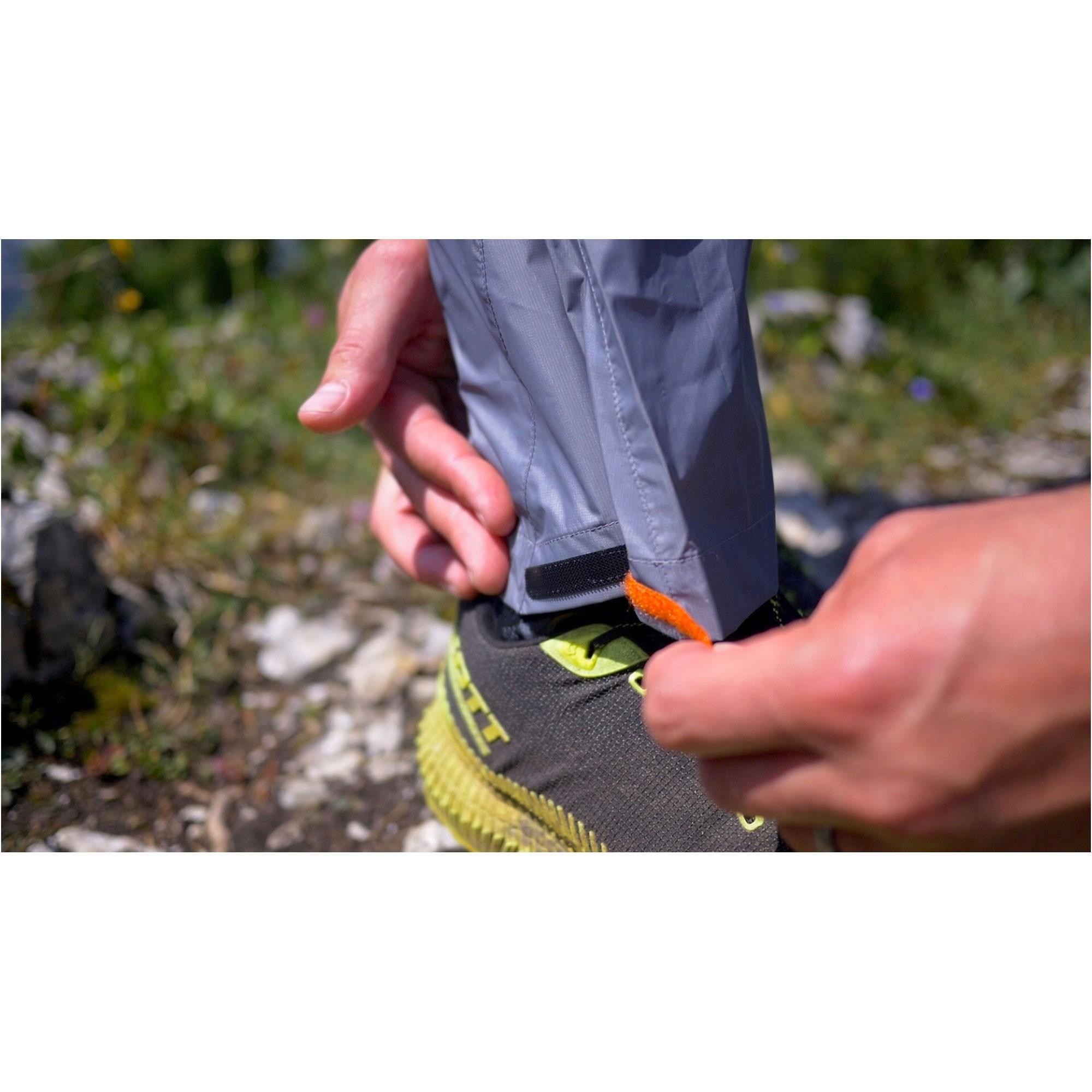 OMM Halo Men's Waterproof Pants - Grey - velcro ankle tab
