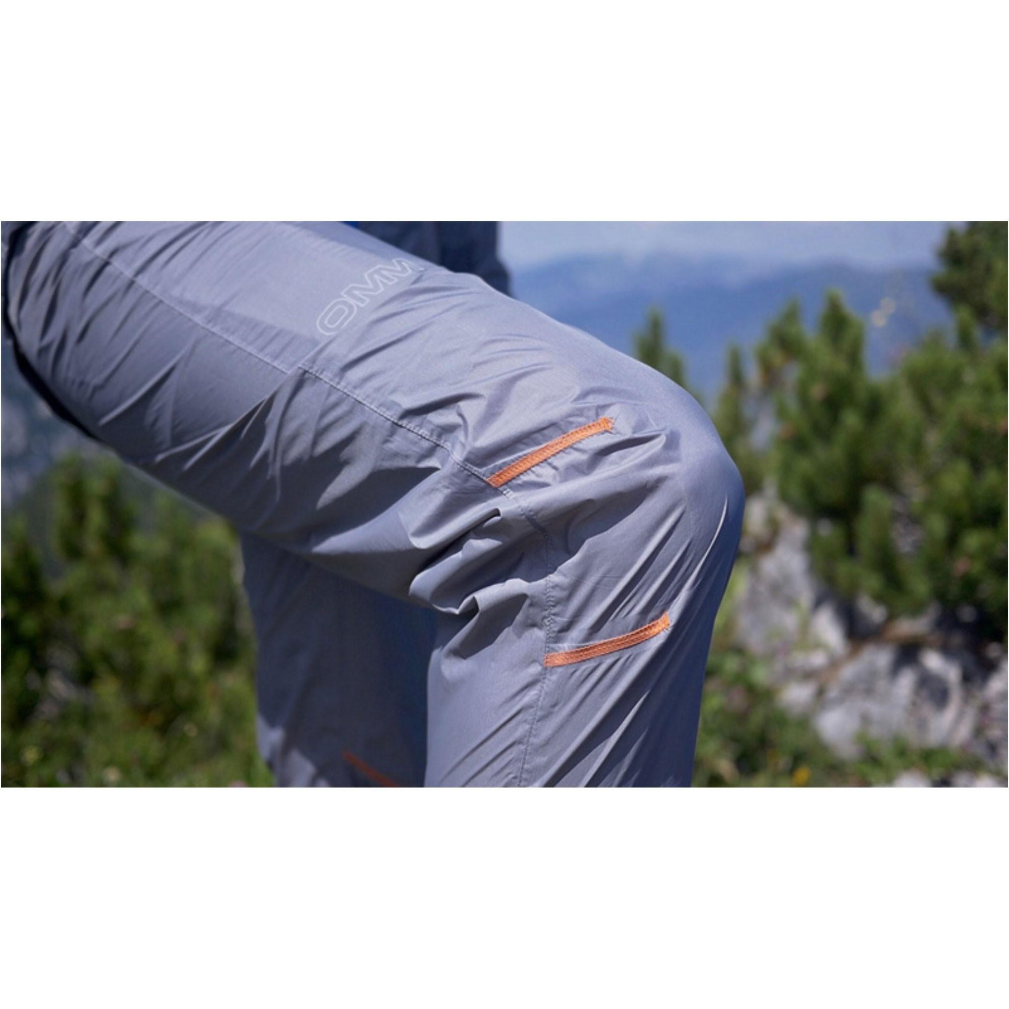 OMM Halo Men's Waterproof Pants - Grey - articulated knee