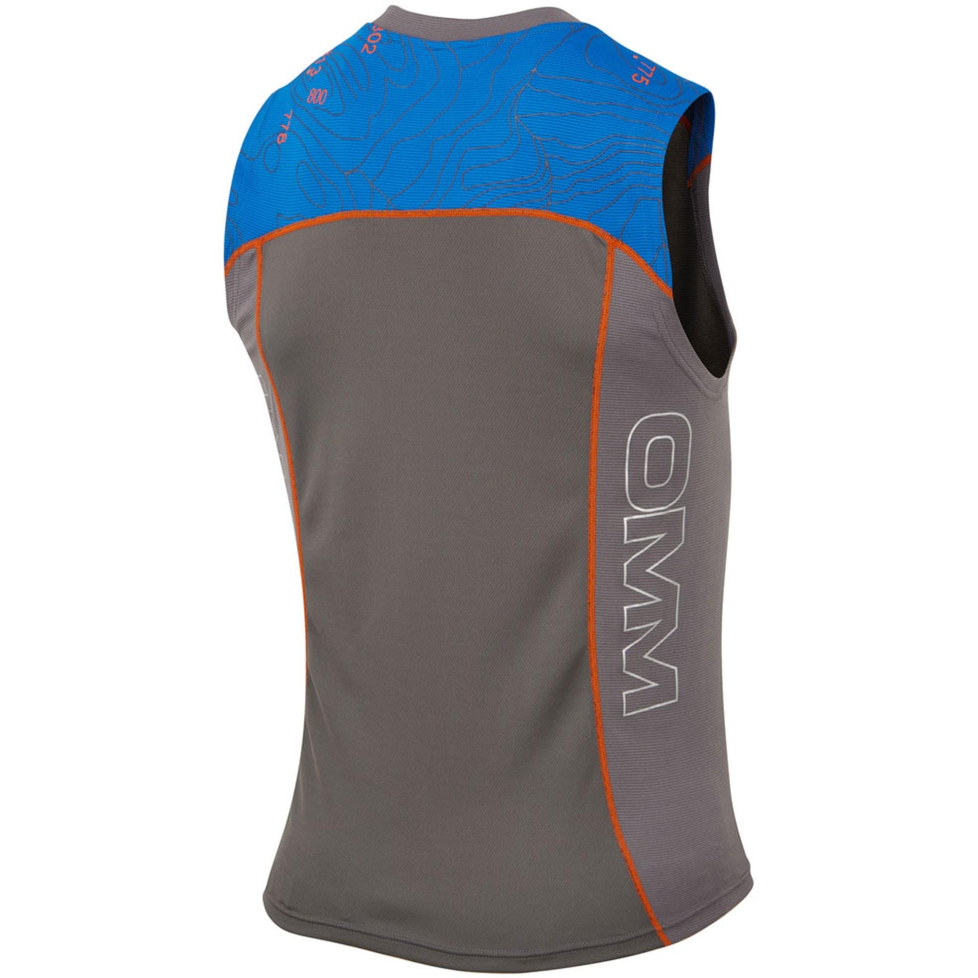 OMM Flow Running Singlet - Grey/Blue