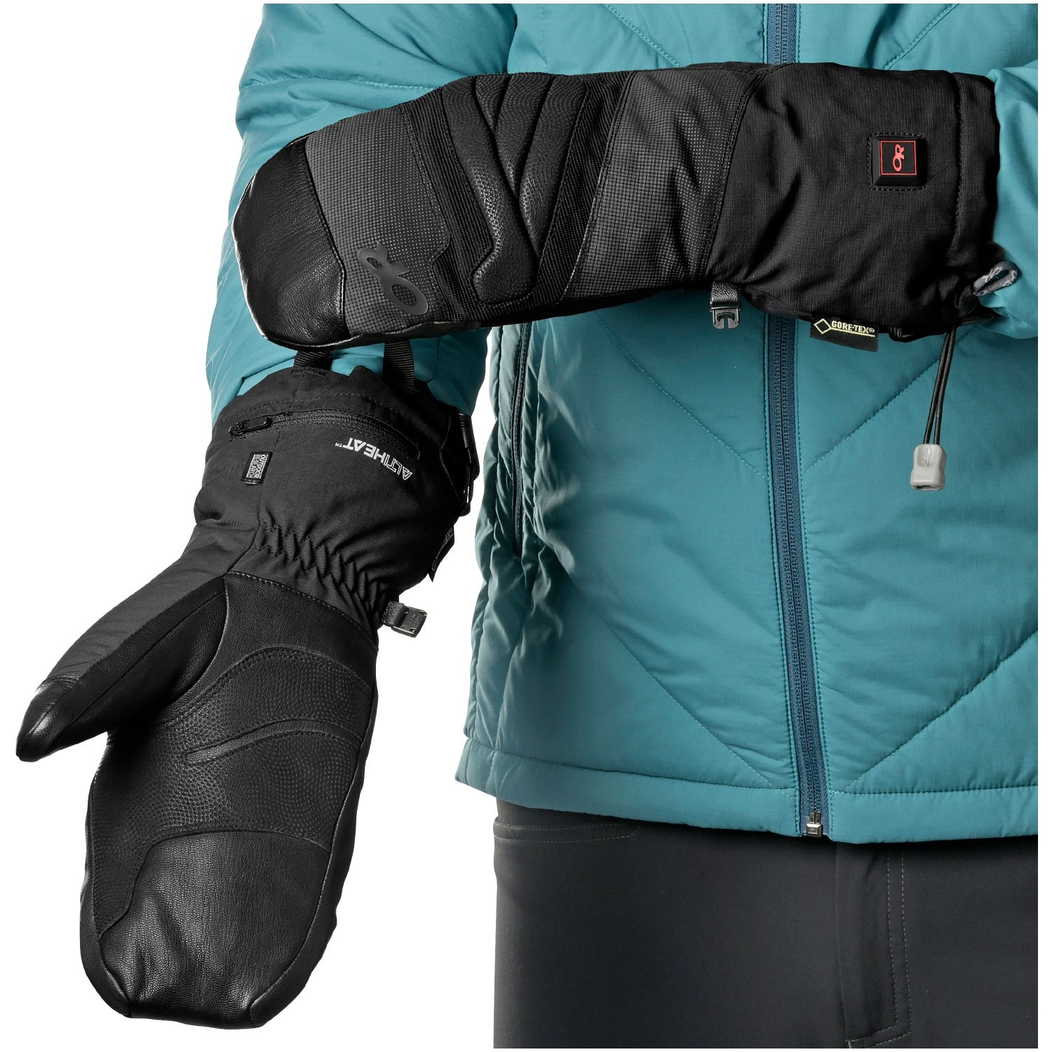 OUTDOOR RESEARCH - Lucent Heated Mitts - Black