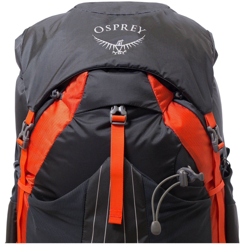Osprey Exos 48 Trekking Rucksack - Blaze Black - floating lid