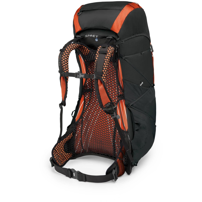 Osprey Exos 48 Trekking Rucksack - Blaze Black - back side