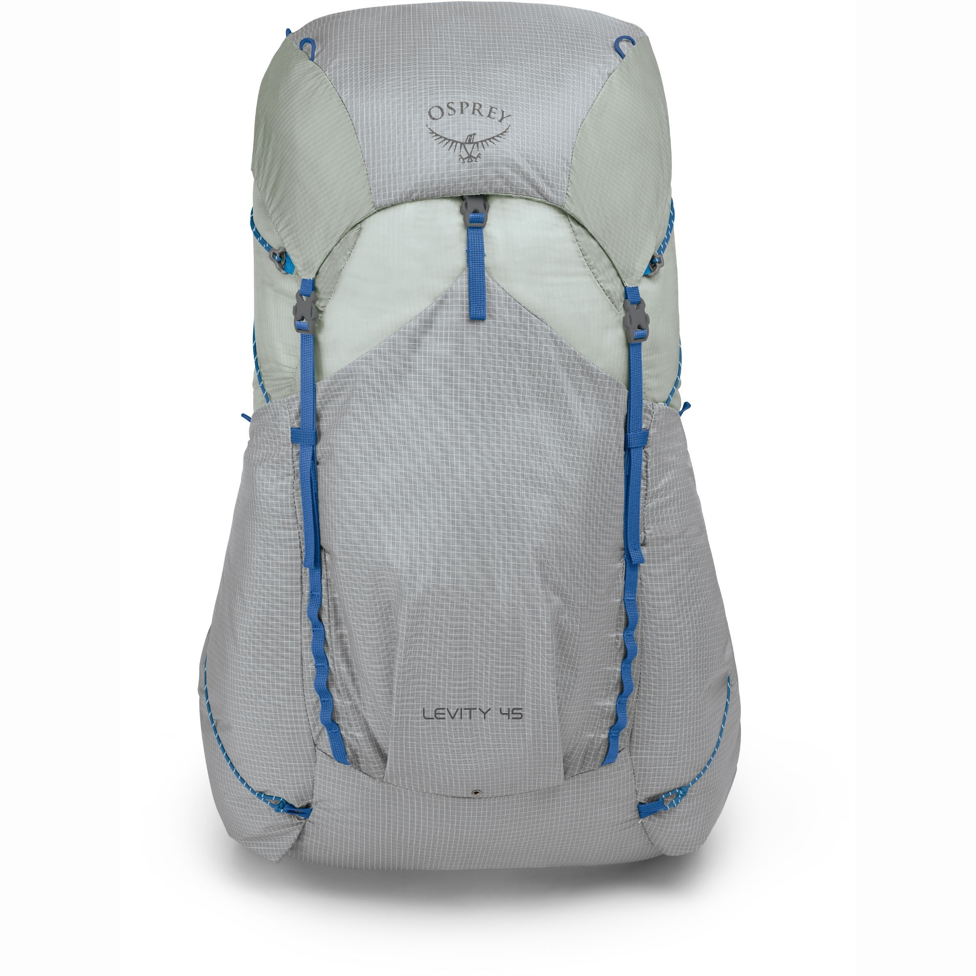 Osprey Levity 45 Ultralight Backpack - Parallax Silver - Front