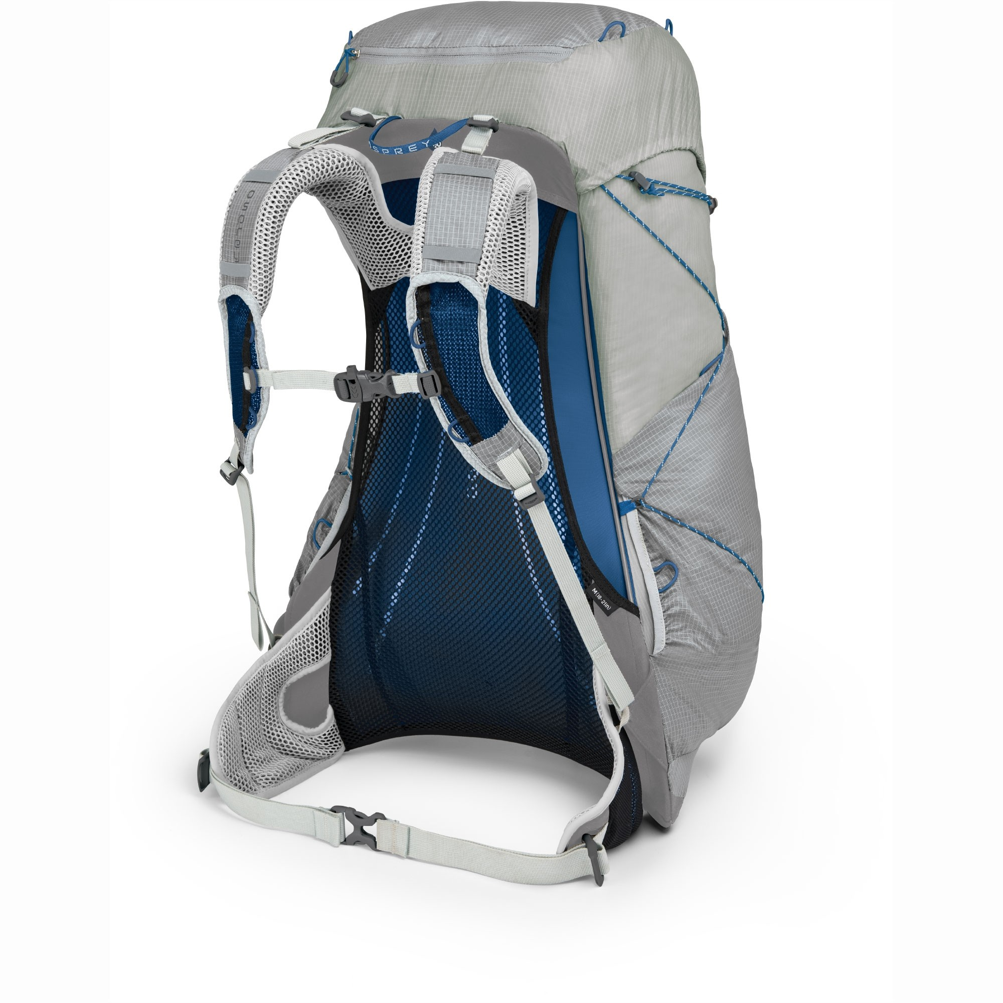Osprey Levity 45 Ultralight Backpack - Parallax Silver - Back System