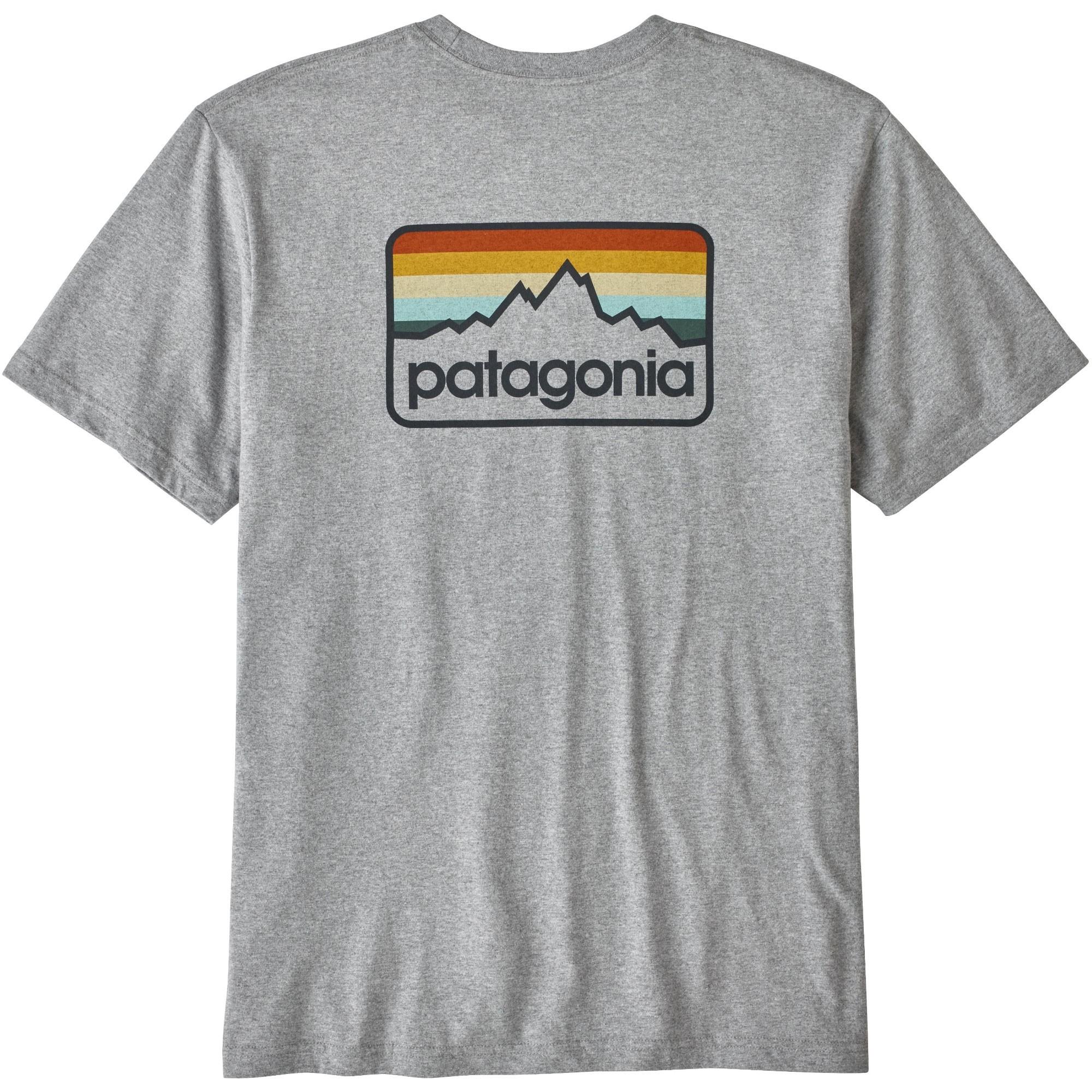 The Patagonia Line Logo Badge Responsibili-Tee T-Shirt Drifter Grey-Smolder Blue