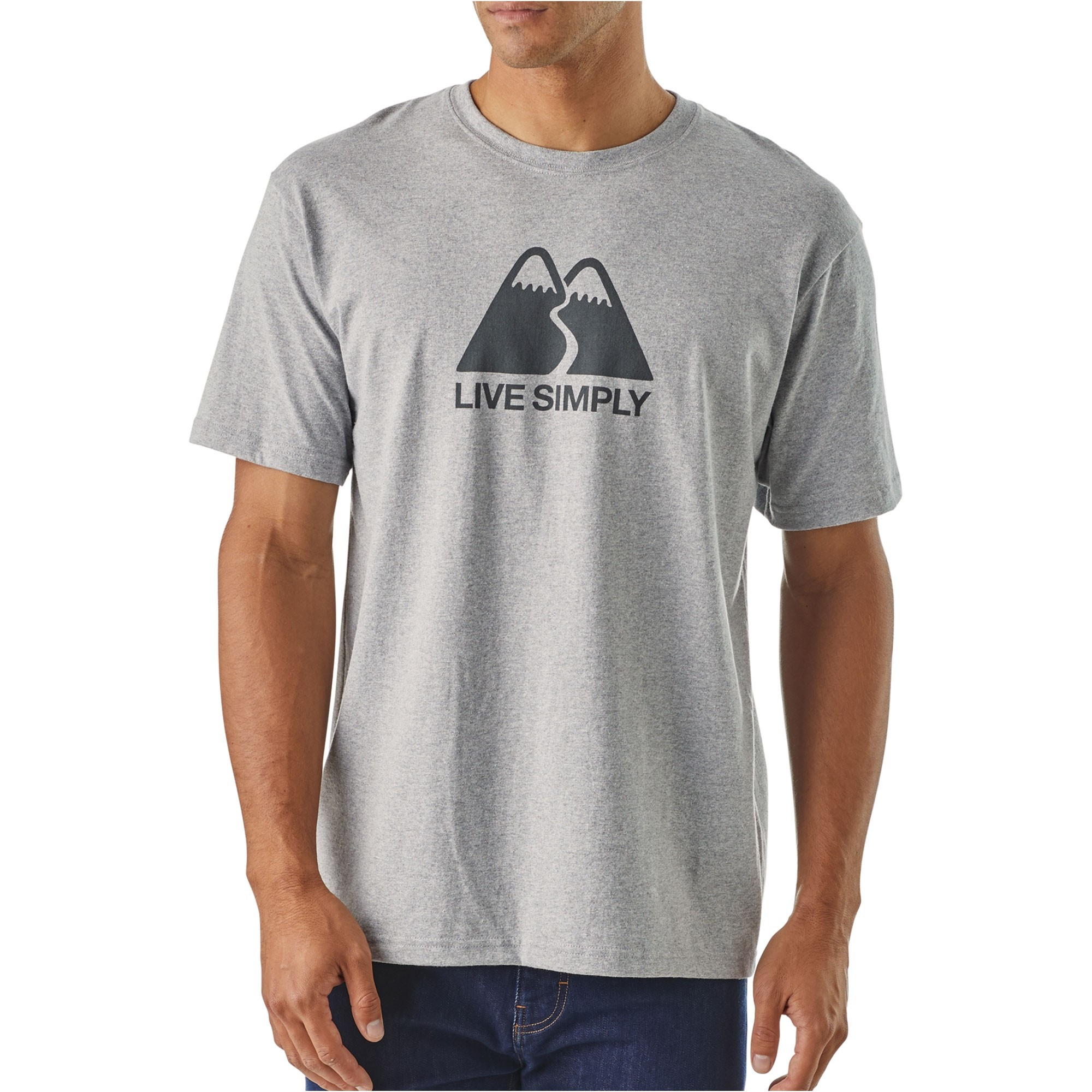 Patagonia-Live-Simply-Winding-Responsibili-T-Mens-Drifter-Grey-OM1-OM-S18.