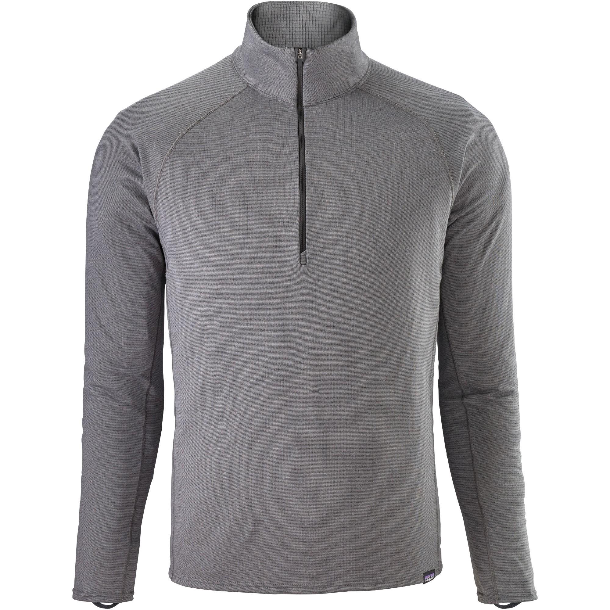 Patagonia Capilene Midweight Men's Zip-Neck - Forge Grey/Feather Grey X-Dye