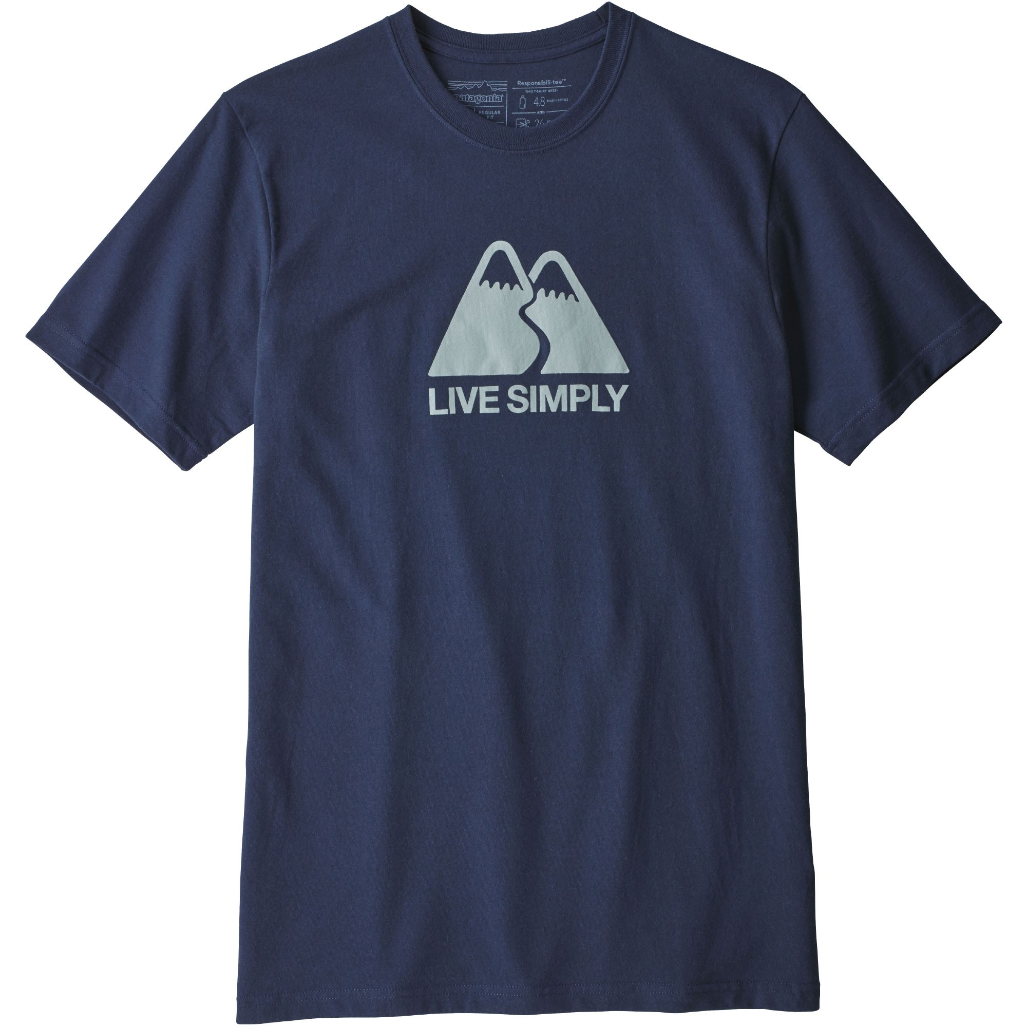 Patagonia Men's Live Simply Winding Responsibili-Tee - Classic Navy