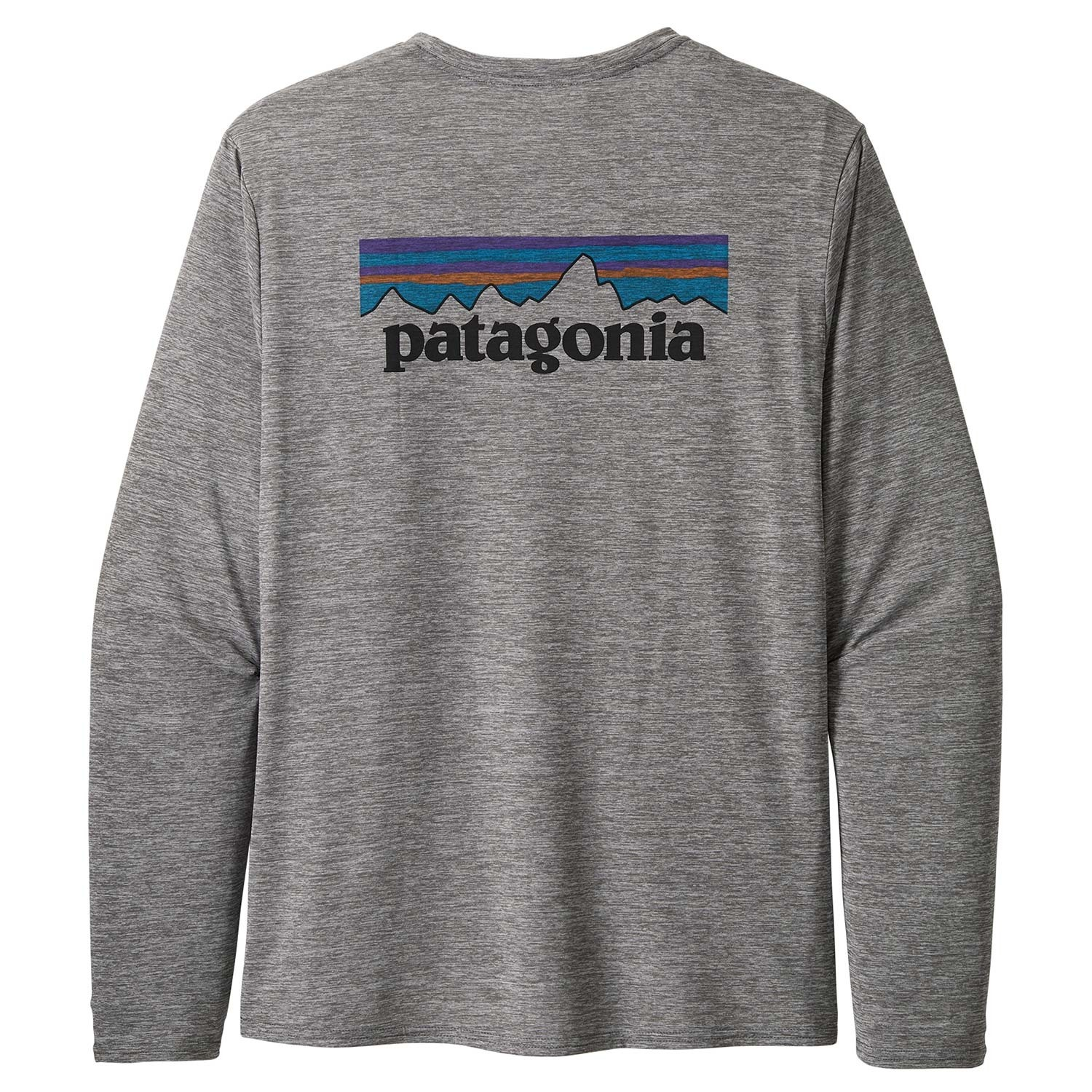 Patagonia Long-Sleeved Capilene Cool Daily Shirt - P-6 Logo: Feather Grey