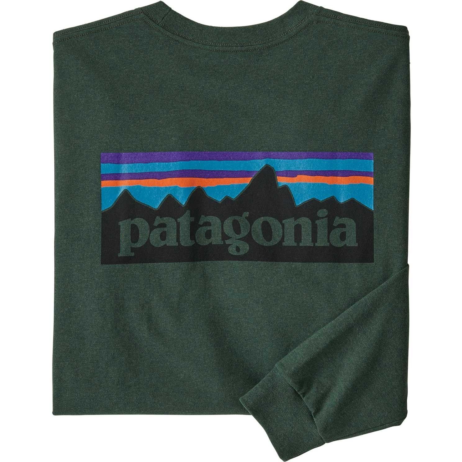 Patagonia P-6 Logo LS Responsibili-Tee - Alder Green