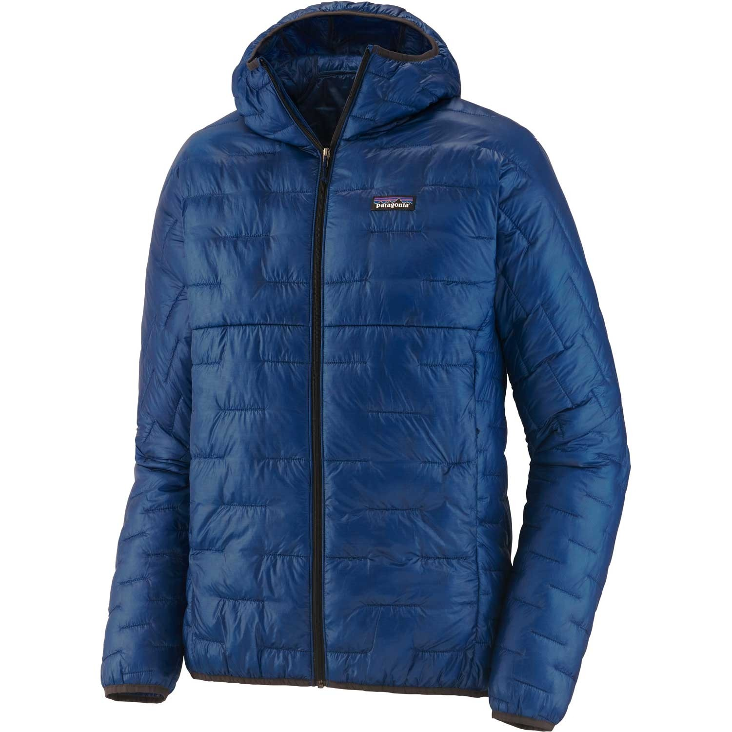 Patagonia Micro Puff Men's Insulated Hoody - Superior Blue w/ Ink Black
