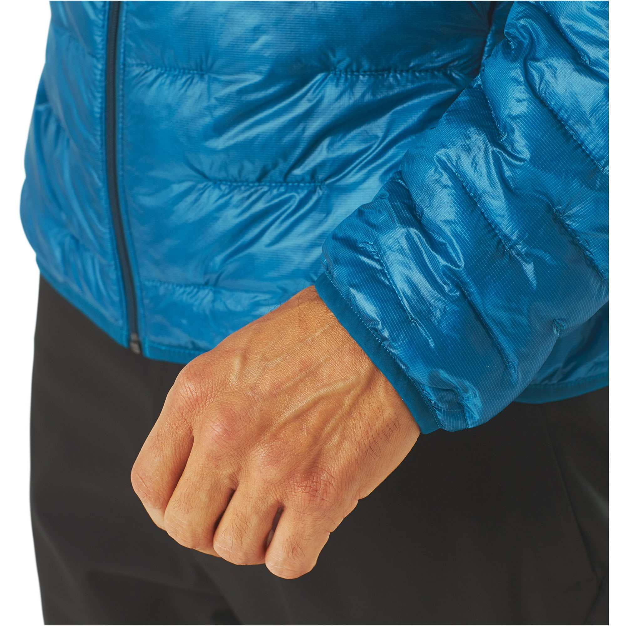 Patagonia Micro-Puff Hoody - Balkan Blue - cuff