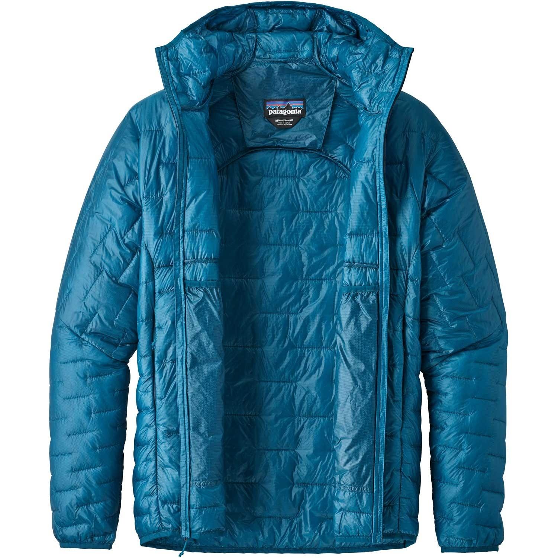 Patagonia Micro-Puff Hoody - Balkan Blue - open
