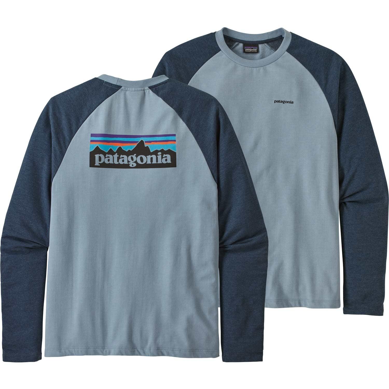 Patagonia P-6 Logo Lightweight Crew Sweatshirt - Men's - Berlin Blue