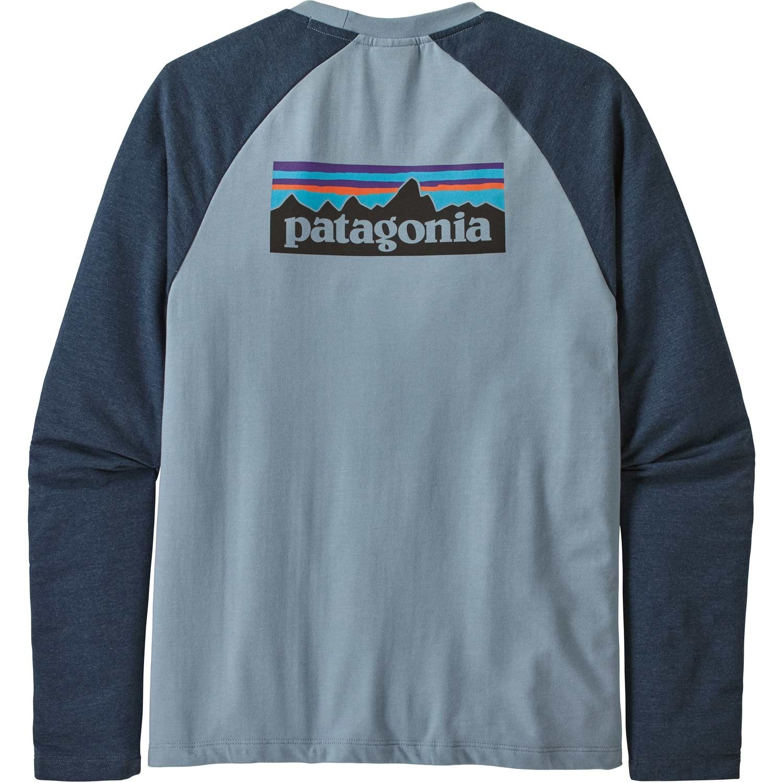 Patagonia P-6 Logo Lightweight Crew Sweatshirt - Men's - Berlin Blue - back