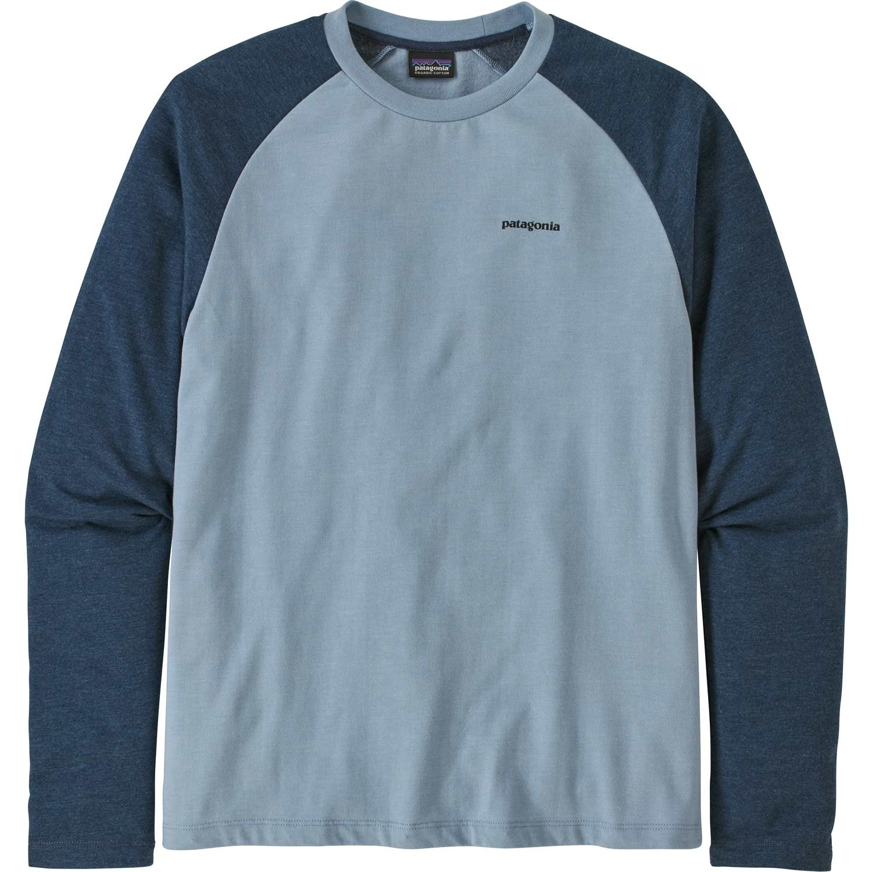 Patagonia P-6 Logo Lightweight Crew Sweatshirt - Men's - Berlin Blue - front