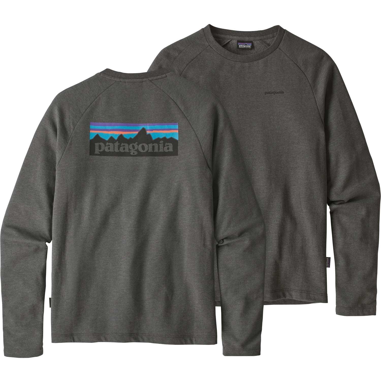 Patagonia P-6 Logo Lightweight Crew Sweatshirt - Men's - Forge Grey