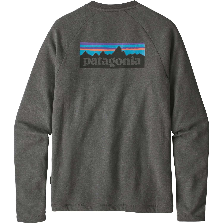 Patagonia P-6 Logo Lightweight Crew Sweatshirt - Men's - Forge Grey - back
