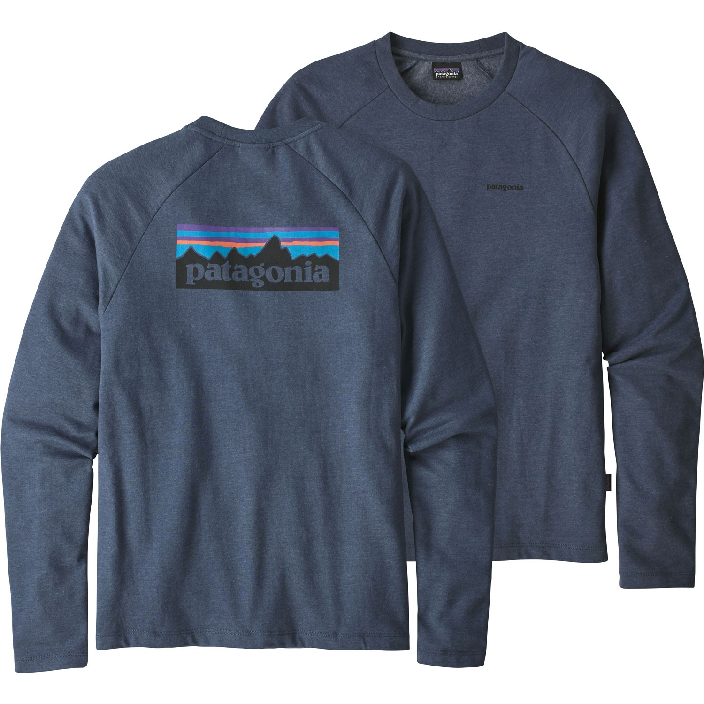 Patagonia P-6 Logo Lightweight Crew Sweatshirt - Dolomite Blue