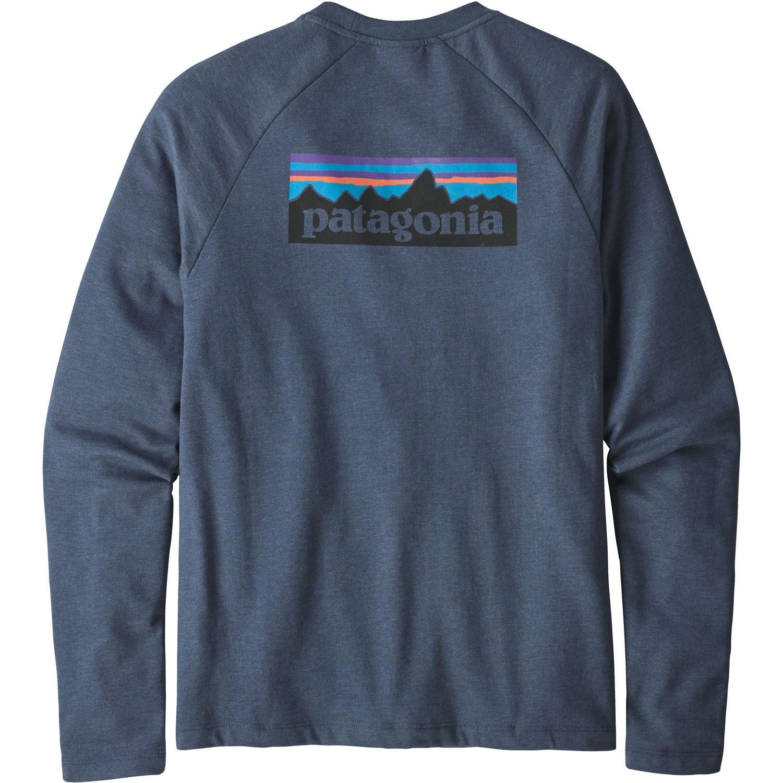 Patagonia P-6 Logo Lightweight Crew Sweatshirt - Dolomite Blue - Back