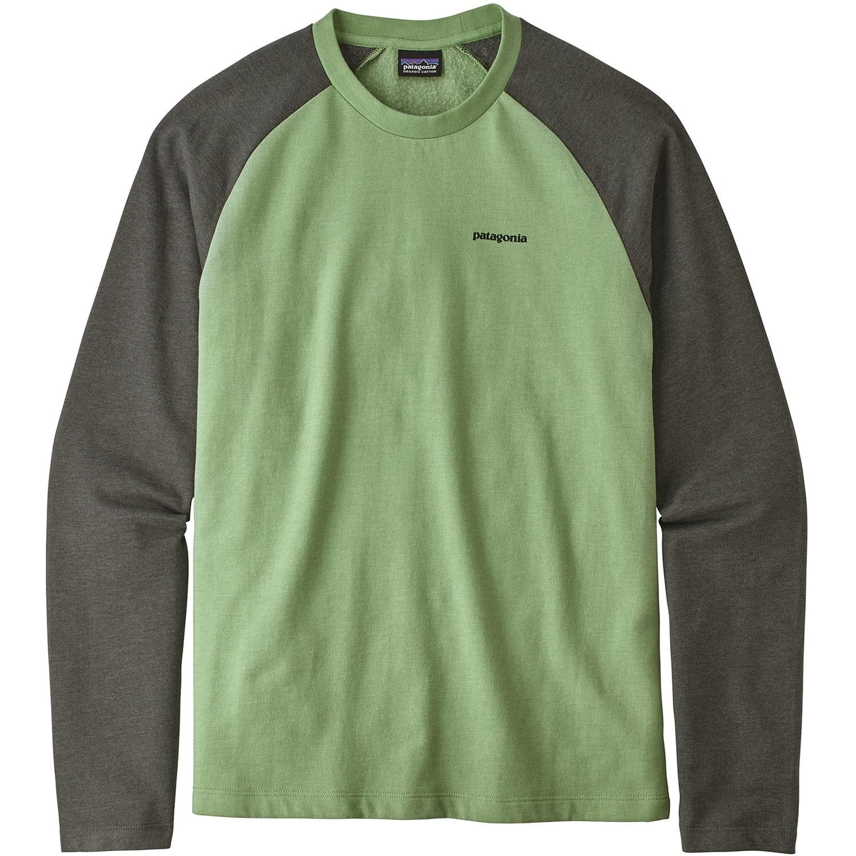 Patagonia P-6 Logo Lightweight Crew Sweatshirt - Matcha Green - Front