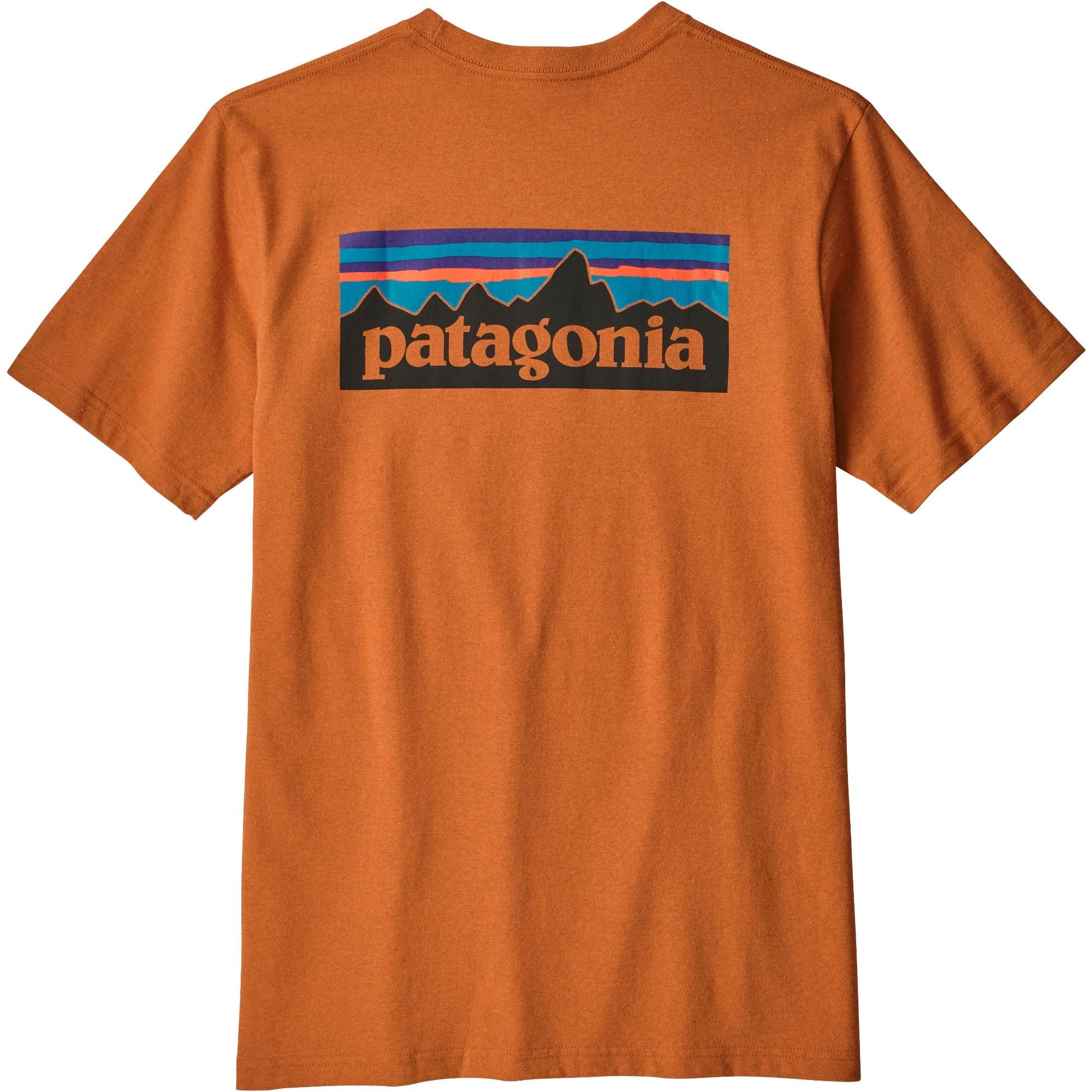Patagonia Men's P-6 Logo Responsibili-Tee - Marigold - back