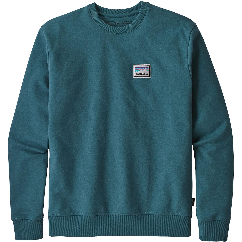 Patagonia Men's Shop Sticker Patch Uprisal Crew Sweatshirt - Tasmanian Teal