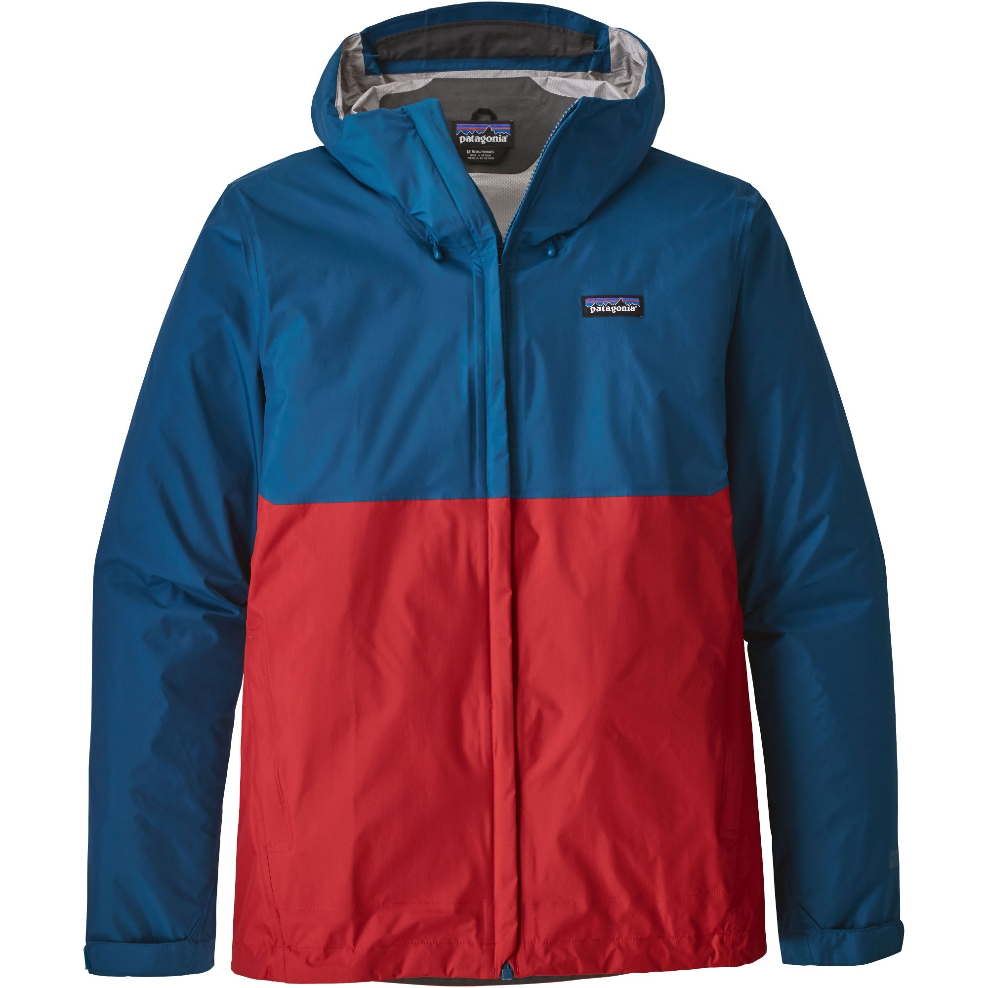Patagonia Torrentshell Men's Jacket - Fire with Big Sur Blue