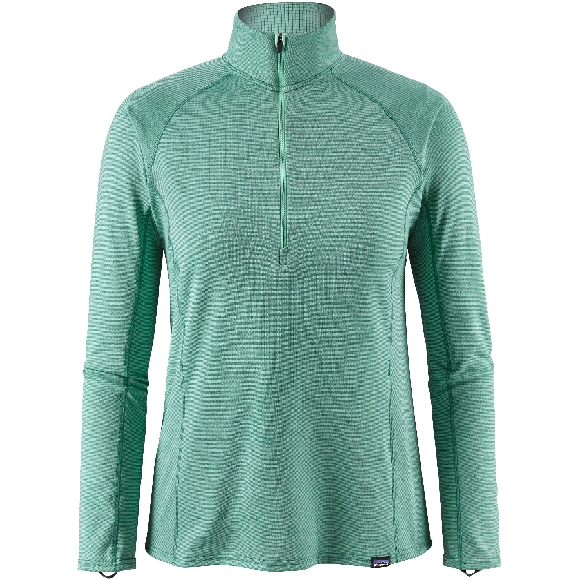 Patagonia Capilene Midweight Women's Zip-Neck - Vjosa Green/Beryl Green X-Dye