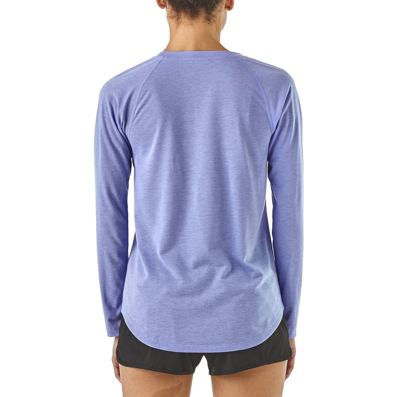 Patagonia Women's Long-Sleeved Cap Cool Trail Shirt - Light Violet