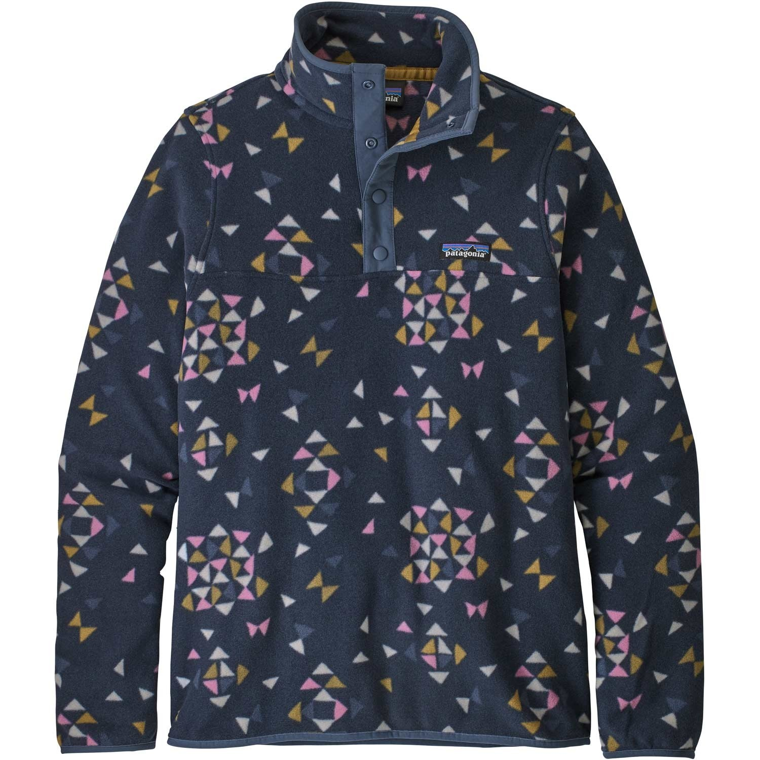 Patagonia Micro D Snap-T Pullover - Women's - Quilty Big/New Navy