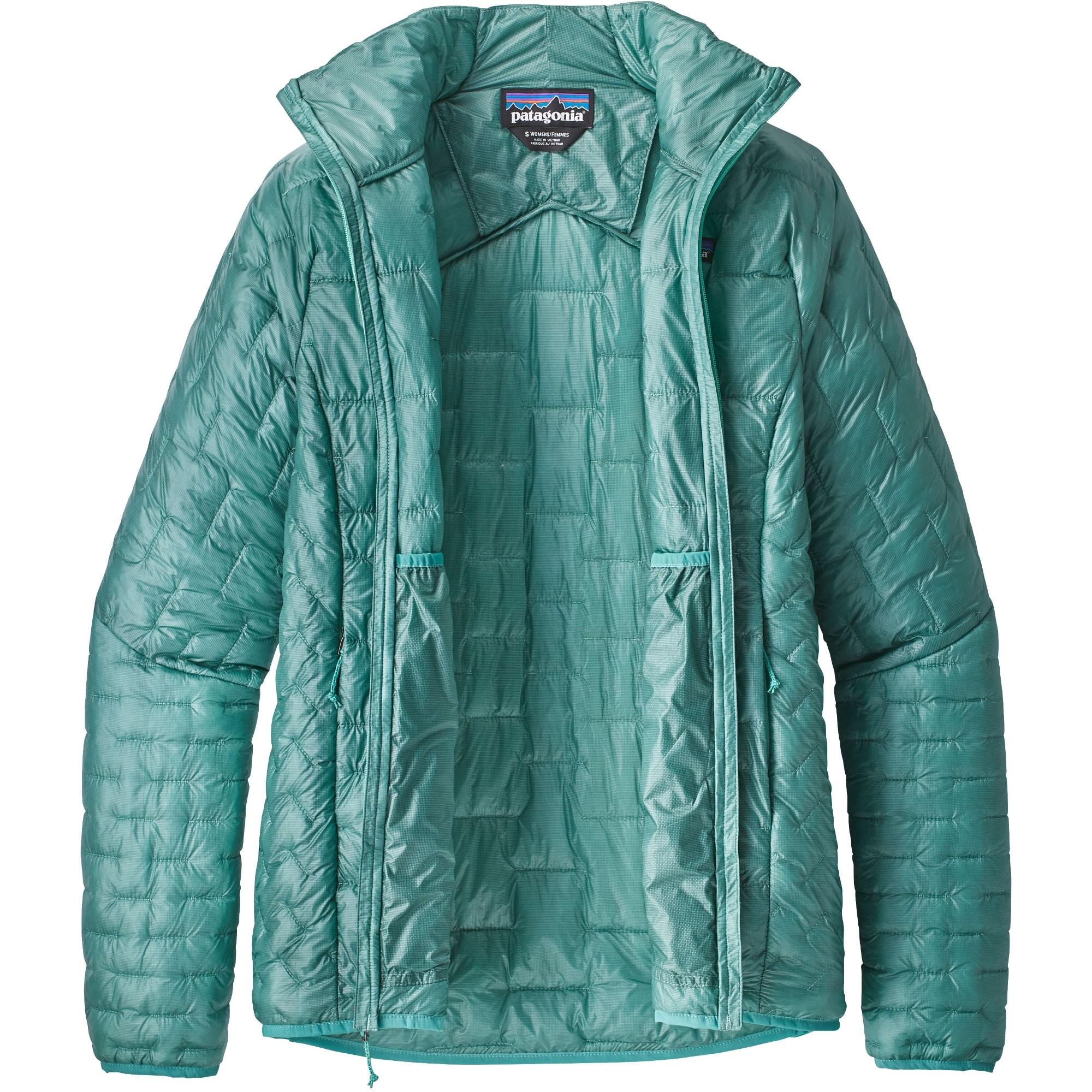 Patagonia Women's Micro Puff Jacket - Beryl Green - open