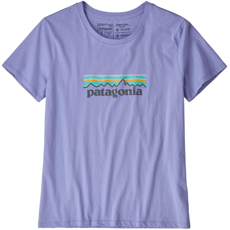 Patagonia Women's Pastel P-6 Logo Organic Crew T-Shirt - Violet