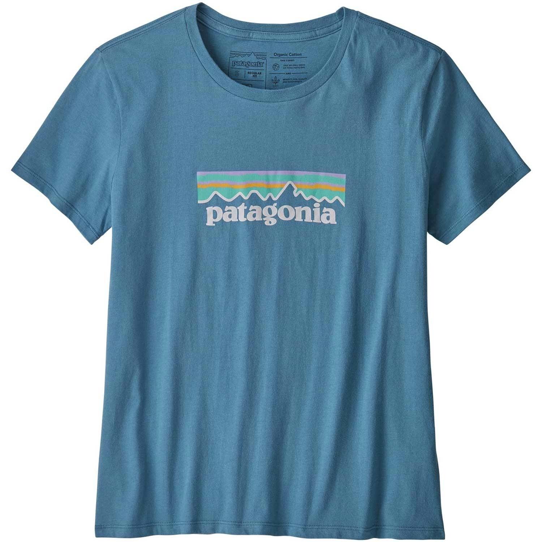Patagonia Women's Pastel P-6 Logo Organic Crew T-Shirt - Wooly Blue