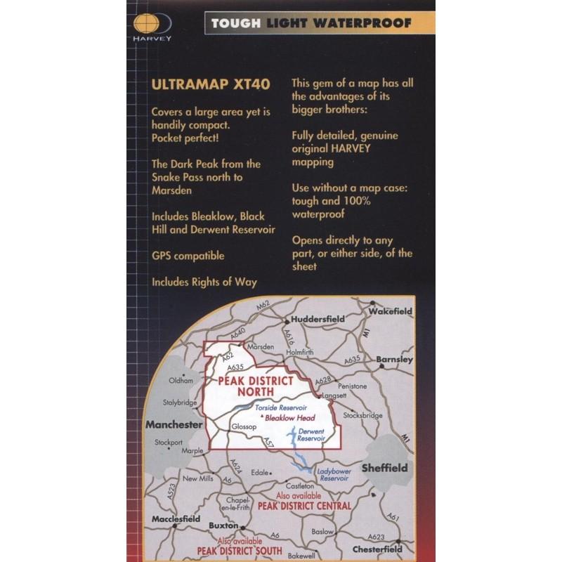Peak District North: Harvey Ultramap XT40