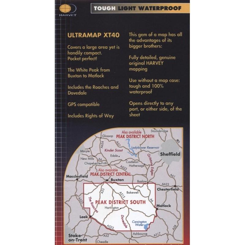 Peak District South: Harvey Ultramap XT40